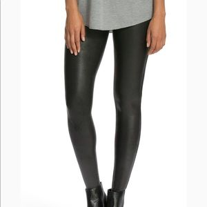 Spanx faux leather liquid leggings black
